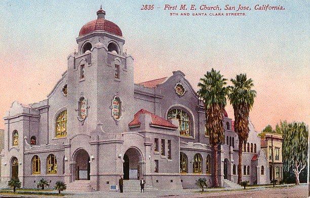 First Methodist Church in San Jose, California CA Edward H Mitchell 1911 Vintage Postcard - M0133