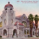 First Methodist Church in San Jose, California CA Edward H Mitchell 1911 Vintage Postcard - M0133