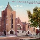 St. Paul's Methodist Church South in San Jose, CA Edward H Mitchell 1911 Vintage Postcard - M0135