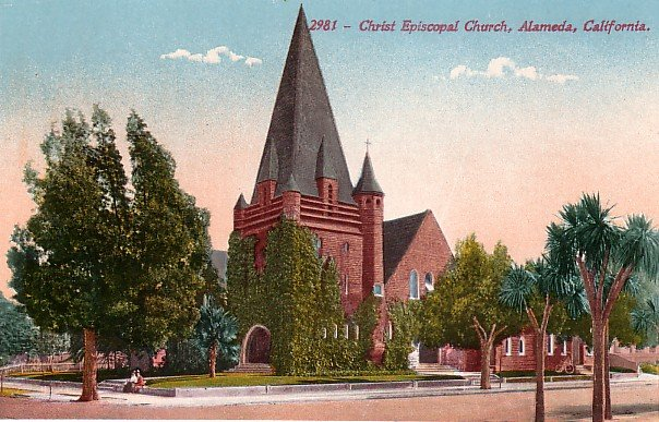 Christ Episcopal Church in Alameda California CA Edward H Mitchell 1911 Vintage Postcard - M0138