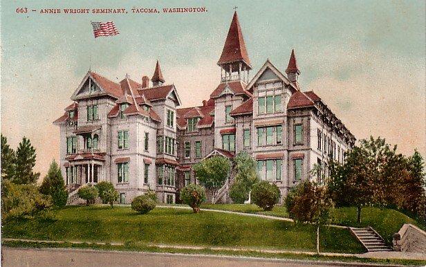 Annie Wright Seminary in Tacoma Washington WA Edward H Mitchell 1908 Postcard - M0163