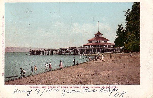 Pavilion at Point Defiance Park in Tacoma Washington WA Edward H Mitchell 1903 Postcard - M0166