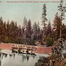 Headwaters of the Truckee River in Lake Tahoe California CA, Edward H Mitchell 1907 Postcard - M0171