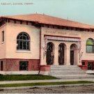 Public Library in Eugene Oregon OR Edward H Mitchell 1908 Postcard - M0178