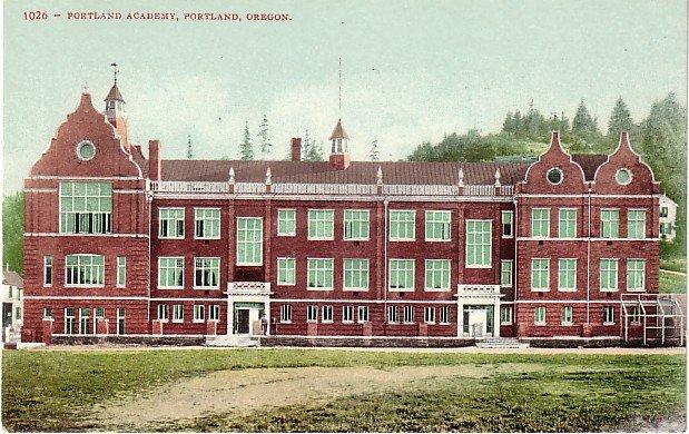 Portland Academy in Oregon OR, Edward H Mitchell 1907 Postcard - M0181