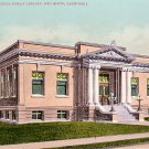 Kraft Memorial Public Library in Red Bluff California CA, Edward H Mitchell 1907 Postcard - M0183