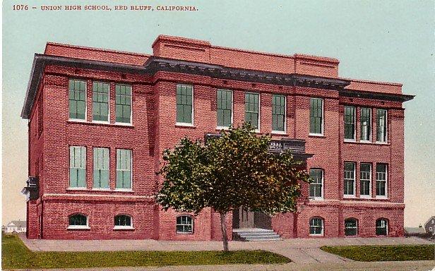 Union High School in Red Bluff California CA, Edward H Mitchell 1907 Postcard - M0184