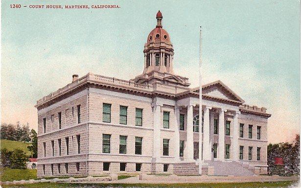 Court House in Martinez California CA, Edward H Mitchell 1908 Postcard - M0192