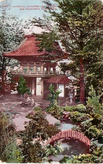 Japanese Tea Garden in San Francisco California CA Edward H Mitchell Vintage 1908 Postcard - M0205