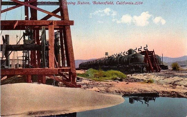 Shipping Station in Bakersfield California CA, Edward H Mitchell 1911 Vintage Postcard - M0215
