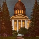 Full Moon over Dome of State Capitol in Salem Oregon OR Edward H Mitchell 1911 Postcard - M0222