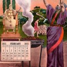 February 1911 Calendar, Edward H Mitchell Vintage Postcard - M0230