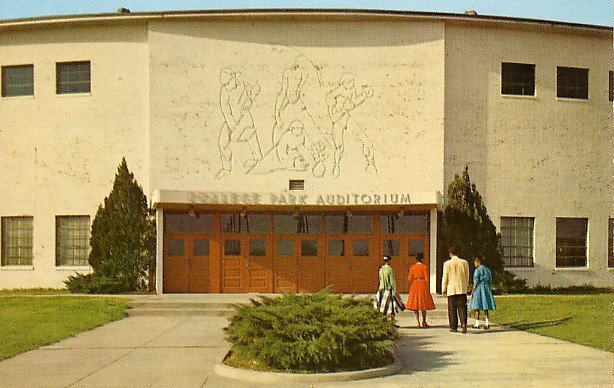 College Park Auditorium in Jackson Mississippi MS, Chrome Postcard - BTS 24