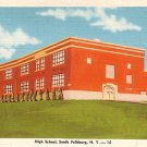 South Fallsburg High School in New York NY, Linen Postcard - BTS 40