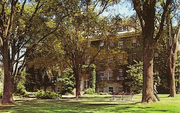 Washburn Hall at the University of Rhode Island in Kingston RI Chrome Postcard - BTS 69