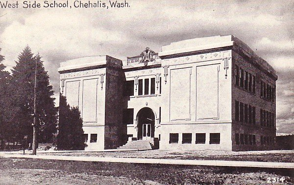West Side School in Chehalis Washington WA, Vintage Postcard - BTS 81