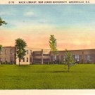 Mack Library at Bob Jones University in Greenville South Carolina SC Linen Postcard - BTS 84