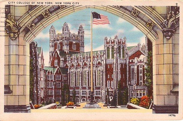 City College of New York NY, 1947 Vintage Postcard - BTS 102