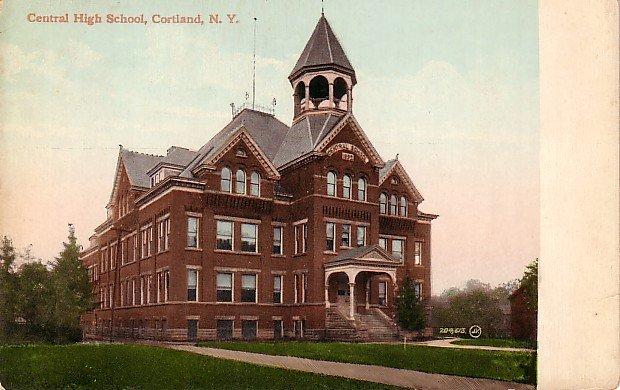 Central High School at Cortland New York NY, Vintage Postcard - BTS 104