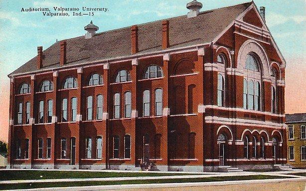 Auditorium at Valparaiso University, Indiana IN Vintage Postcard - BTS 152