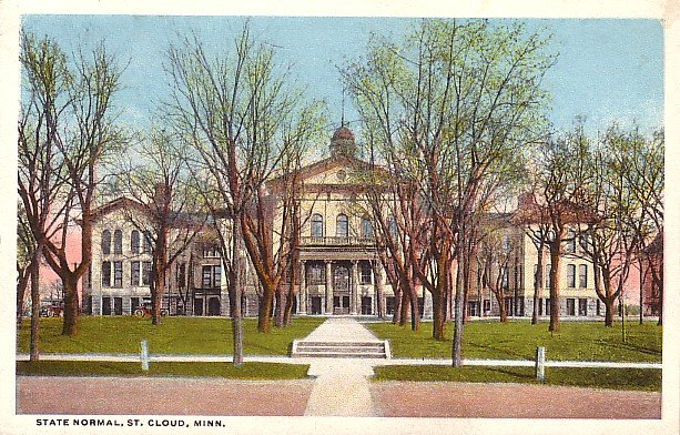 State Normal School in St. Cloud Minnesota MN, Curt Teich Vintage Postcard - BTS 155
