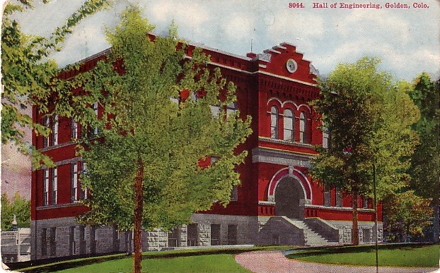 Hall of Engineering at Colorado School of Mines in Golden CO 1919 Vintage Postcard - BTS 181