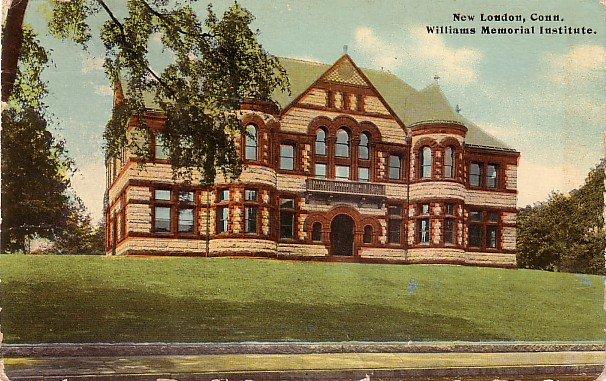 Williams Memorial Institute in New London Connecticut CT, 1914 Vintage Postcard - BTS 182