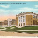 Abraham Lincoln Junior High School in Rockford Illinois IL Vintage Postcard - BTS 188
