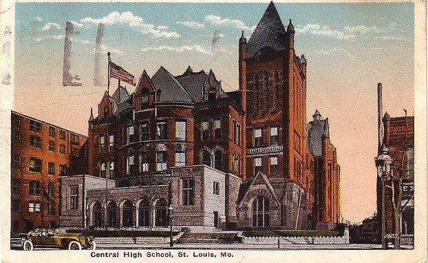 Central High School in St. Louis Missouri MO 1920 Vintage Postcard - BTS 190