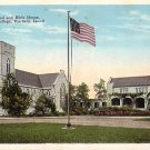 Chapel and Bible House at Parsons College in Fairfield Iowa IA Vintage Postcard - BTS 191