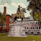 Marcus Aurelius Antoninus Statue at Brown University in Providence Rhode Island, Postcard - BTS 202