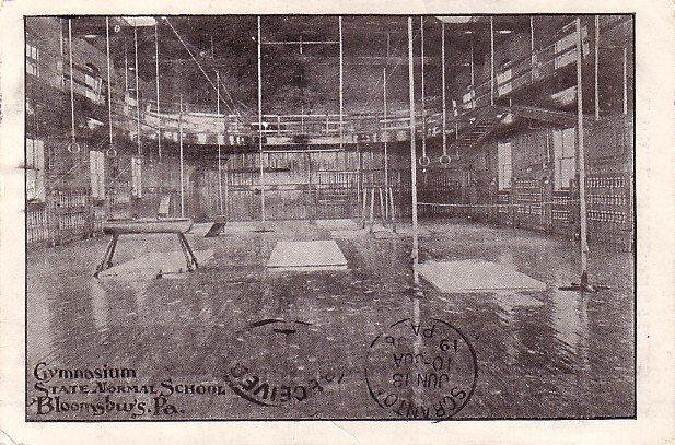 Gymnasium at State Normal School in Bloomsburg, Pennsylvania PA 1906 Vintage Postcard - BTS 206