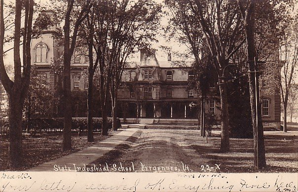 State Industrial School in Vergennes Vermont VT, 1906 Real Photo Post Card - BTS 209