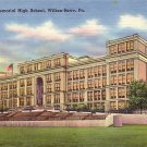 G.A.R. Memorial High School in Wilkes Barre Pennsylvania PA, Linen Postcard - BTS 213
