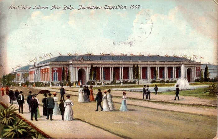 Liberal Arts Building at the 1907 Jamestown Exposition, Vintage Postcard - 4060