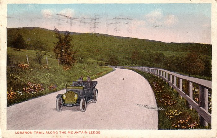 Lebanon Trail along the Mountain Ledge in Pennsylvania PA, 1915 Vintage Postcard - 4061