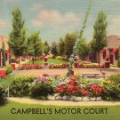 Campbell's Motor Court in North Platte Nebraska NE, MWM Linen Postcard - 4136