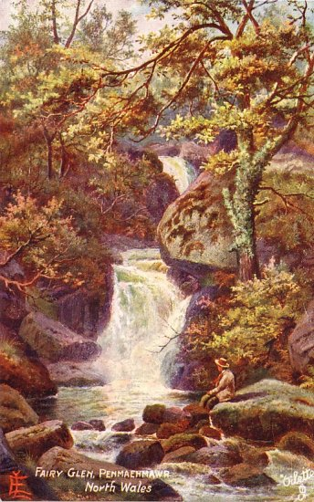The Fairy Glen at Penmaenmawr in Wales, Raphael Tuck & Sons Postcard - 4147