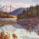 Morning at Mineral Lake in Tacoma Washington WA, Raphael Tuck & Sons Postcard - 4156