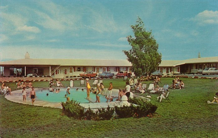 Congress Inn Swimming Pool in Lancaster Pennsylvania PA, Chrome Postcard - 4214