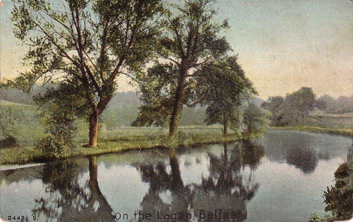 On the Lagan in Belfast Ireland, 1911 Vintage Postcard - 4215