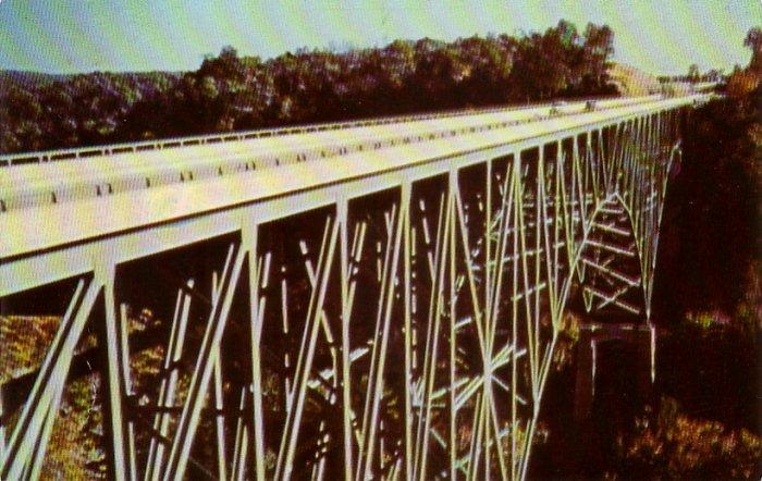 Charlton Memorial Bridge over Bluestone in West Virginia WV, Chrome Postcard - 4228
