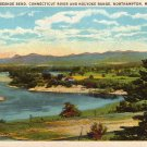 Horseshoe Bend, Connecticut River & Holyoke Range at Northampton Massachusetts MA Postcard - 4230