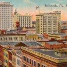 Skyscrapers in Jacksonville Florida FL, Vintage Postcard - 4231