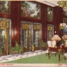 Lobby Showing Elevators at The Blackstone Hotel in Chicago Illinois IL, Vintage Postcard - 4234