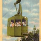 Cannon Mountain Tramway Cable Car, White Mountains New Hampshire NH, Linen Postcard - 4254