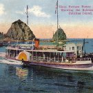 Empress Glass Bottom Power Boat at Catalina Island California CA, 1917 Vintage Postcard - 015 NJ