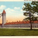 Barracks from the West in Ft. Sheridan Illinois IL, Curt Teich Linen Postcard - 027 NJ