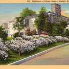 Residence of Ginger Rogers in Beverly Hills California CA, 1938 Curt Teich Linen Postcard - 028 NJ