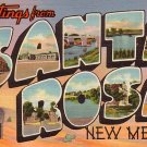 Greetings from Santa Rosa New Mexico NM, 1941 Curt Teich Large Letter Linen Postcard - 029 NJ